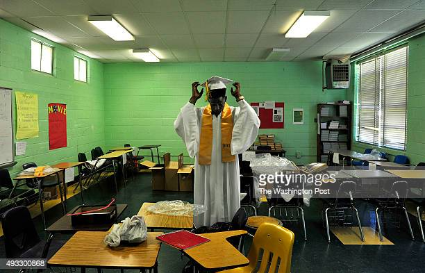 After racing to get to the graduation on time school officials at first would not let Jadaeous Davis into the building to attend his own graduation...