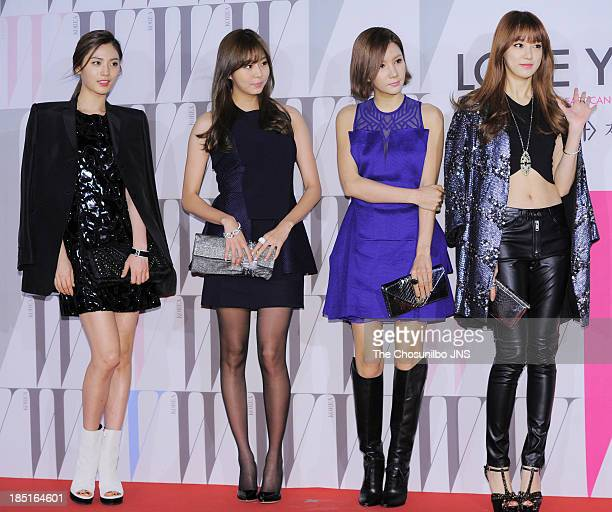 After School attend the W Korea Breast Cancer Campaign 'Love Your W' at Fradia on October 17 2013 in Seoul South Korea