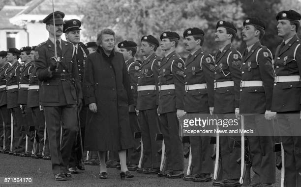 After she presented her Letter of Credence as Ambassador of Norway to Ireland Her Excellency Kirsten Ohm inspecting the Guard of Honour with Lt...