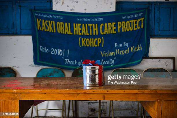 After six years of operation in the village of Kaskikot its pilot site the Kaski Oral Health Care Project ceremoniously hands its dental instruments...