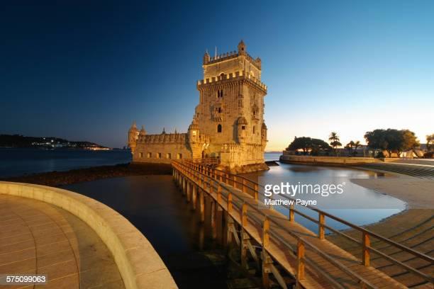 After sundown in Belem, Lisbon