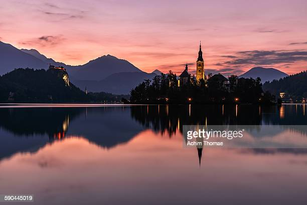 After sunset at Lake Bled