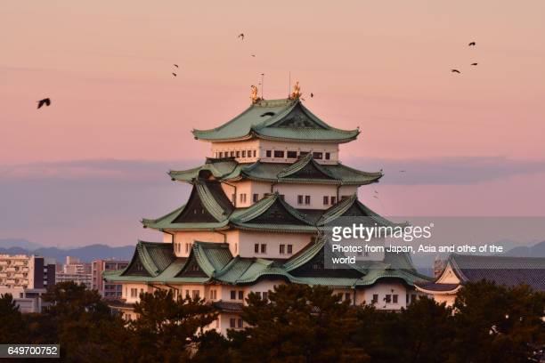 After Sunset at Nagoya Castle, Nagoya, Japan