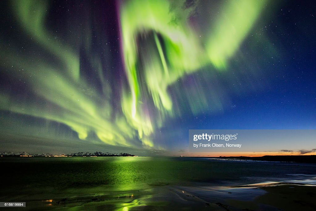 After sunset Auroras : Stock Photo