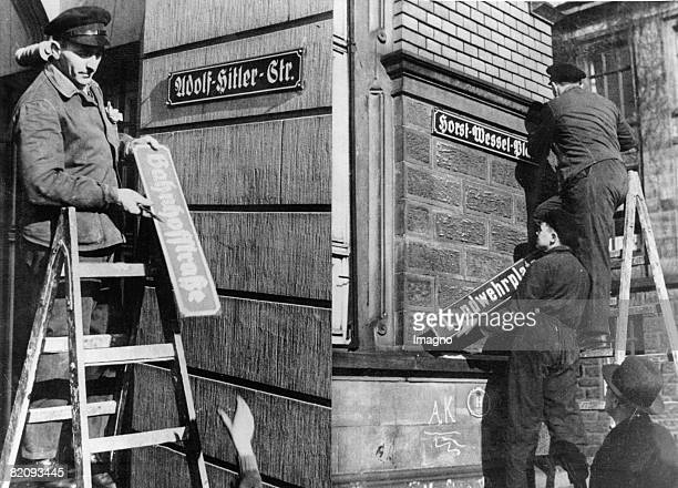 After the annexation of the Saarland to the German Reich streets are renamed Photograph Germany 1935 [Nach dem Anschluss des Saarlandes an das...