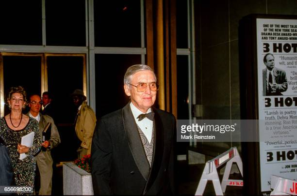 After the annual Kennedy Center Honors program American politician and US Secretary of the Treasury Lloyd Bentsen leaves the Kennedy Center for the...