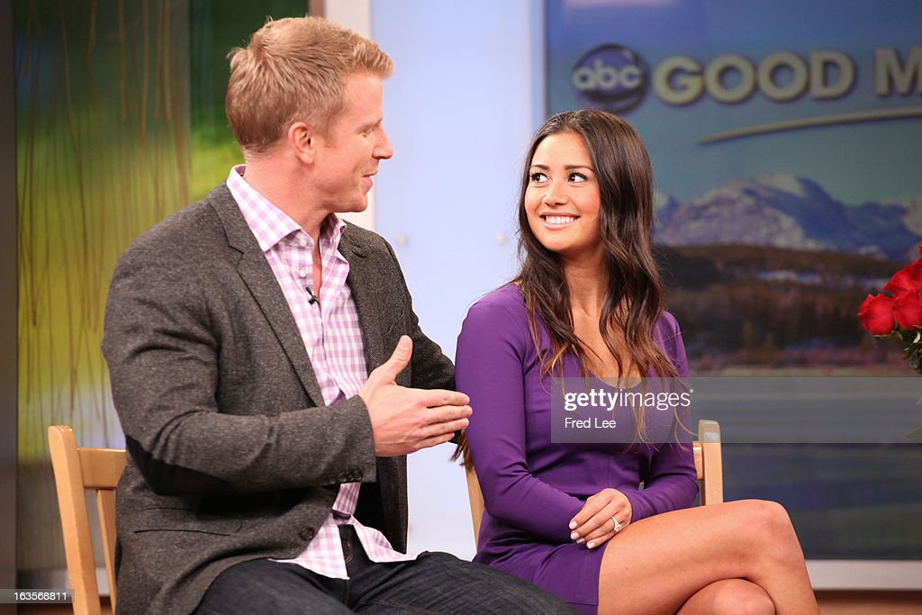 AMERICA - After 'The Bachelor' finale, Sean Lowe and his new fiancée Catherine Giudici are guests on 'Good Morning America,' 3/12/13, airing on the ABC Television Network. (Photo by Fred Lee/ABC via Getty Images) SEAN LOWE, CATHERINE GIUDICI