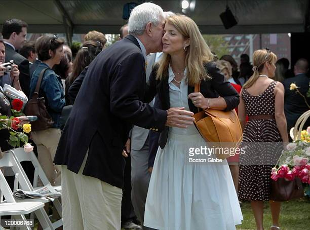 After the ceremony Caroline Kennedy Schlossberg greeted by another guest