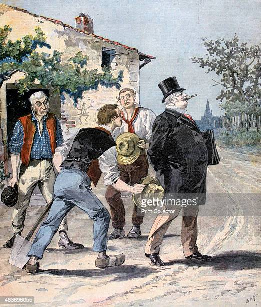 After the election 1893 A print from the Le Petit Journal 2nd September 1893