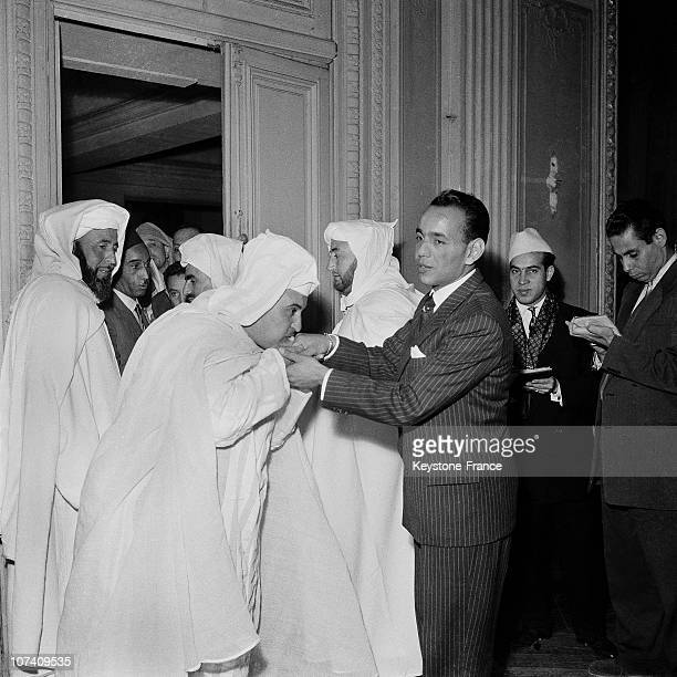 After The Official Announcement Of Prince Heir Legitimized Of The Cherifien Throne The Prince Moulay Hassan Receives The Homage Of His/Her/Its Topics...