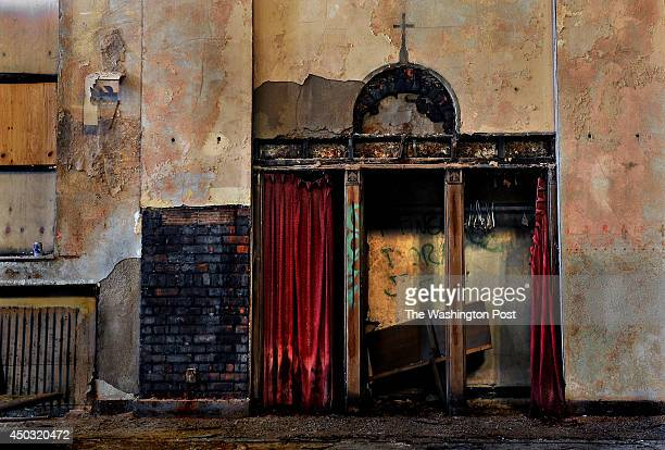 After this Catholic Church closed many years ago it was reused briefly by a Baptist congragation that used the confessional booths as a closet That...