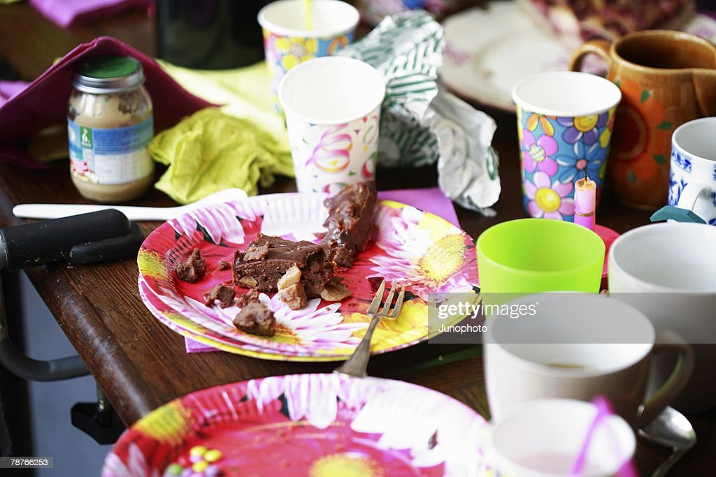 Aftermath of a child's birthday party
