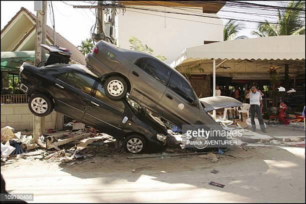 Aftermath Of The Tsunami That Hit Thai Patong Beach In Phuket On December 28 2004 In Phuket Thailande