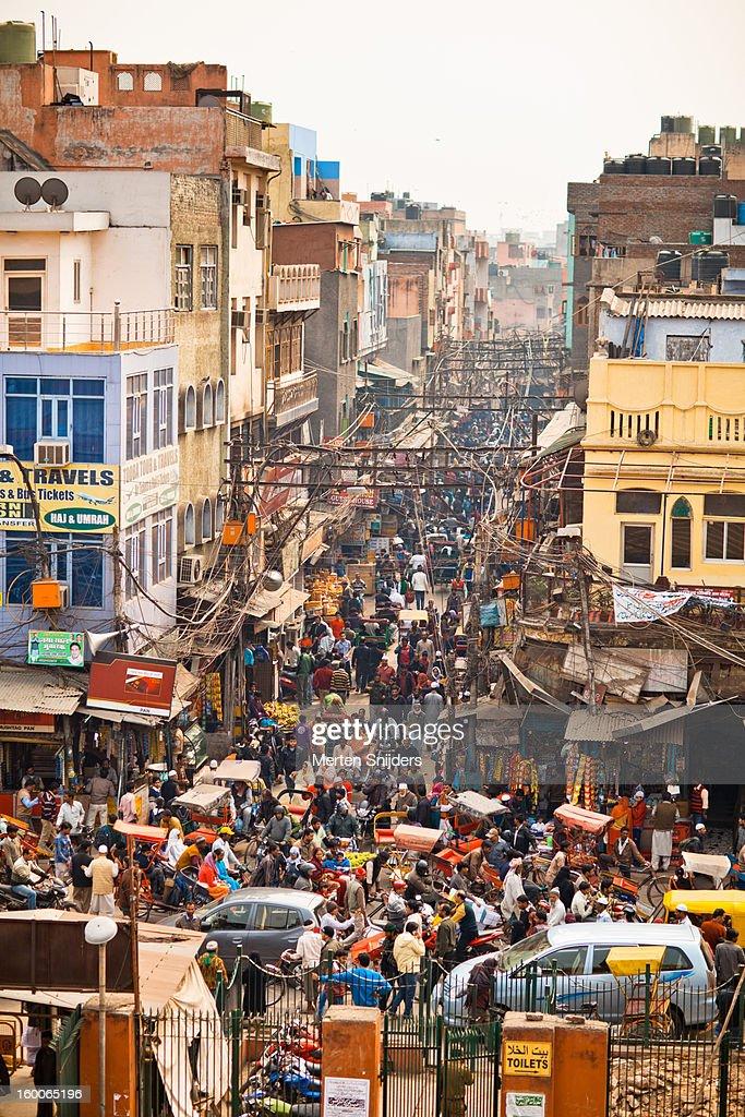 Afternoon crowds on Matya Mahal