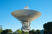 Afternoon scene of Madrid Deep Space comunication complex. It is part of NASA's Deep Space Network managed by the Jet Propulsion Laboratory.
