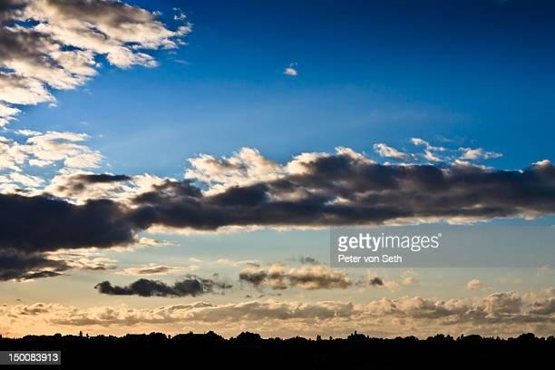 Afternoon sky above skyline