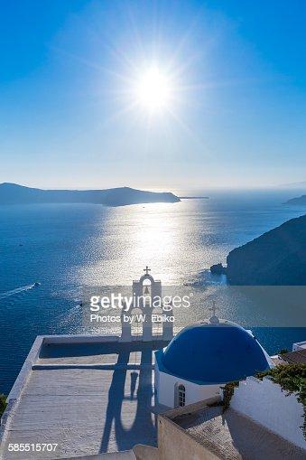 Afternoon sun, Greek islands, Santorini