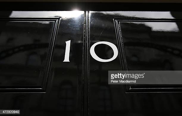 Afternoon sun is reflected off the door to number10 Downing Street on May 6 2015 in London England Britain's political leaders are campaigning on the...