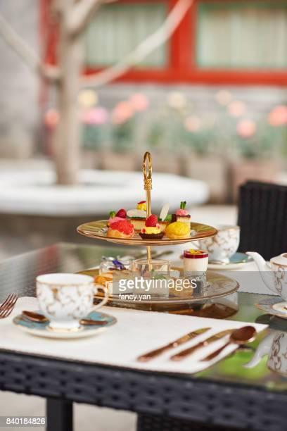 Afternoon tea in a garden
