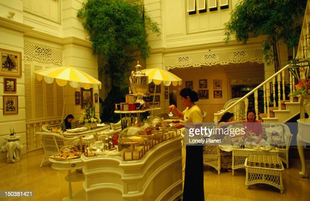 Afternoon tea in Author's Lounge, Oriental Hotel in Bangkok.