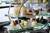Afternoon tea set of pastries collection