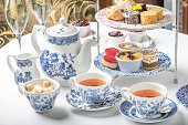 Tea at five luxury sweets cake dessert sandwich china teapot hotel aftrnoon