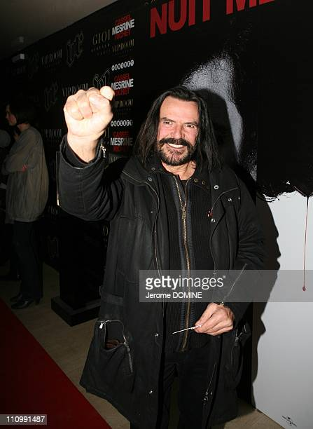 Aftershow of the Mesrine 'L'Ennemi Public' movie at VIP room in Paris France on November 13th 2008 Charlie Bauer former accomplice of Jacques Mesrine
