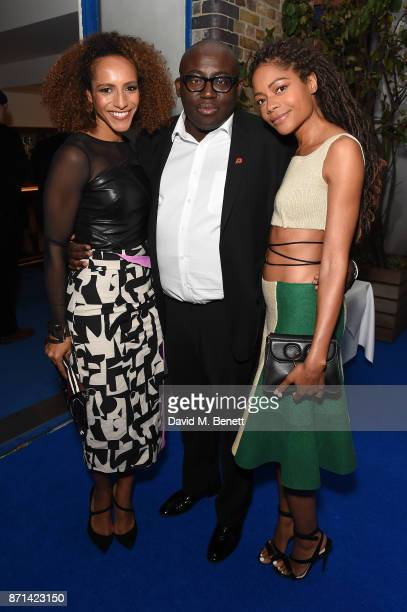 Afua Hirsch Edward Enninful and Naomie Harris attend a dinner hosted by Jonathan Newhouse and Albert Read for Edward Enninful to celebrate the...