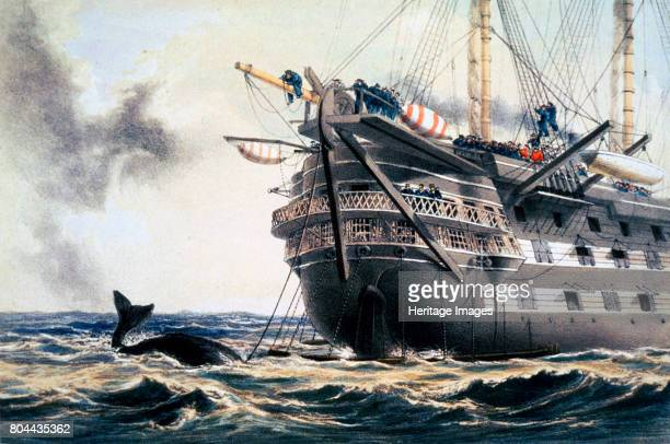 HMS 'Agamemnon' laying the original Atlantic telegraph cable 1857 HMS 'Agamemnon' was the first warship to be built with screw propulsion After being...