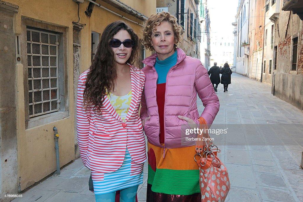 Agatha Ruiz de La Prada and Cosima Ramirez attend the opening of 'DoVe' Donne a Venezia at Palazzo Mocenigo on March 6, 2014 in Venice, Italy.