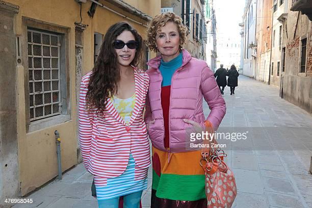 Agatha Ruiz de La Prada and Cosima Ramirez attend the opening of 'DoVe' Donne a Venezia at Palazzo Mocenigo on March 6 2014 in Venice Italy