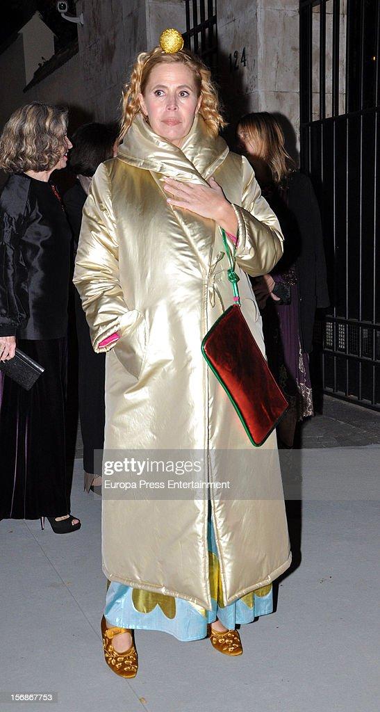 Agatha Ruiz de la Prada arrives at Marie Claire Prix de la Moda Awards 2012 on November 22, 2012 in Madrid, Spain.