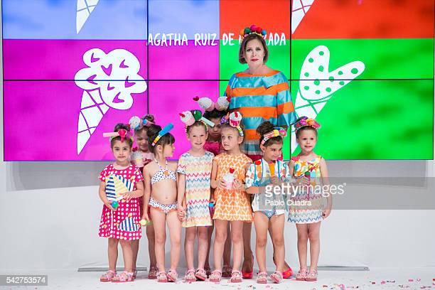 Agatha Ruiz de la Prada attends FIMI 2016 Fashion Show at 'Palacio de Cristal' on June 24 2016 in Madrid Spain