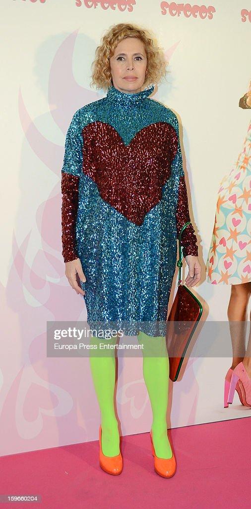 Agatha Ruiz de la Prada attends 'Sofocos' theatre play premiere at Nuevo Apolo Theatre on January 17, 2013 in Madrid, Spain.