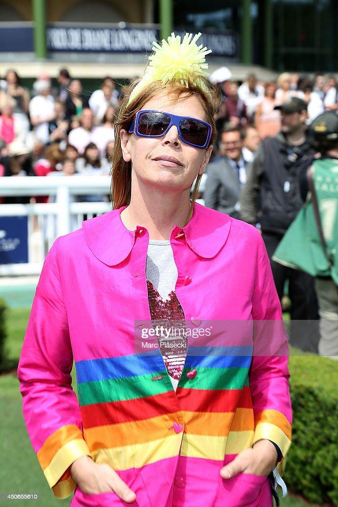 Agatha Ruiz de la Prada attends the 'Prix de Diane Longines 2014' at Hippodrome de Chantilly on June 15, 2014 in Chantilly, France.