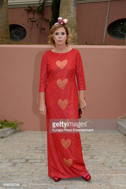 Agatha Ruiz de la Prada attends the wedding of Olivia de Borbon and Julian Porras on October 4 2014 in Malaga Spain
