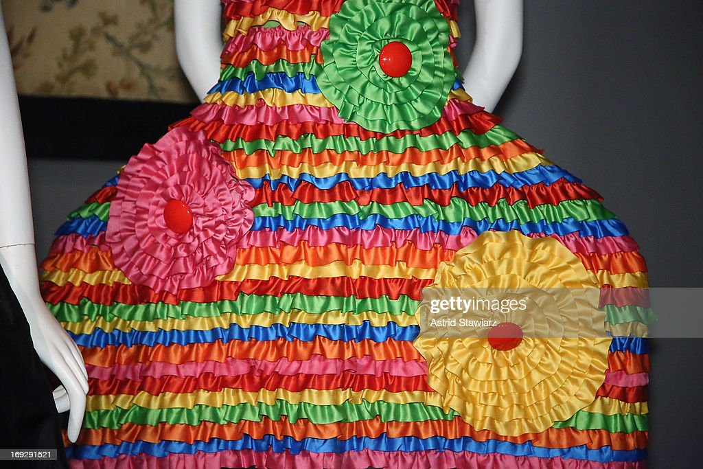 Agatha Ruiz de la Prada, circa 2009 gown is shown at the RetroSpective Press Preview at The Museum at FIT on May 22, 2013 in New York City.