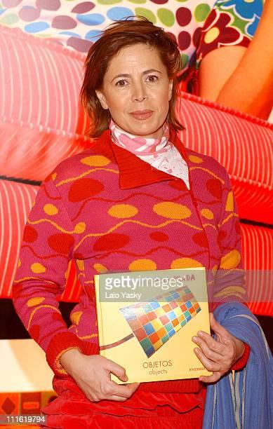 Agatha Ruiz de la Prada during Agatha Ruiz de la Prada Launches Her New Book 'Objetos' in Madrid Spain