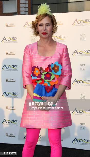 Agatha Ruiz de la Prada receives Acotex Fashion Awards at ABC serrano Building on June 27 2013 in Madrid Spain