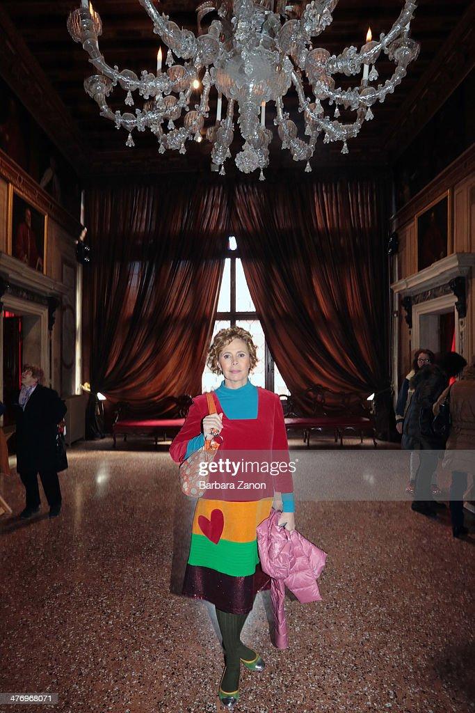 Agatha Ruiz de La Prada visit the museum of Palazzo Mocenigo during the opening of 'DoVe' Donne a Venezia at Palazzo Mocenigo on March 6, 2014 in Venice, Italy.