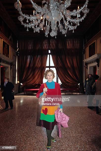 Agatha Ruiz de La Prada visit the museum of Palazzo Mocenigo during the opening of 'DoVe' Donne a Venezia at Palazzo Mocenigo on March 6 2014 in...