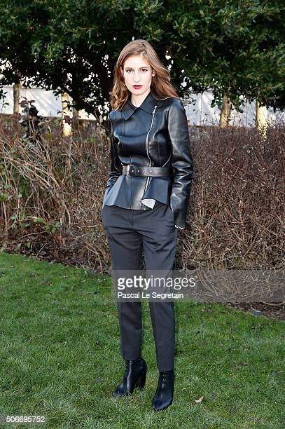 Agathe Bonitzer attends the Christian Dior Spring Summer 2016 show as part of Paris Fashion Week on January 25 2016 in Paris France