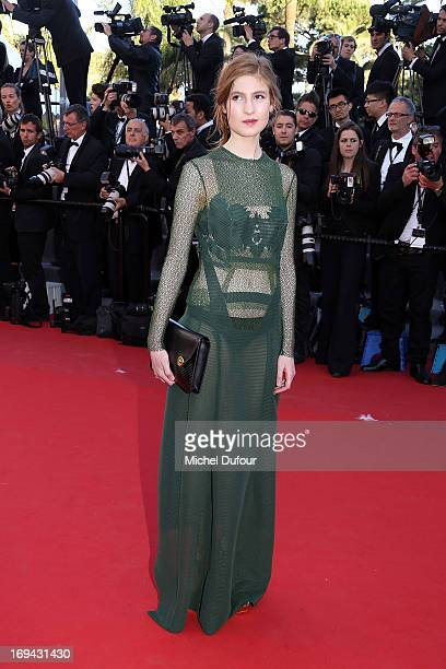 Agathe Bonitzer attends 'The Immigrant' Premiere during the 66th Annual Cannes Film Festival at Palais des Festivals on May 24 2013 in Cannes France