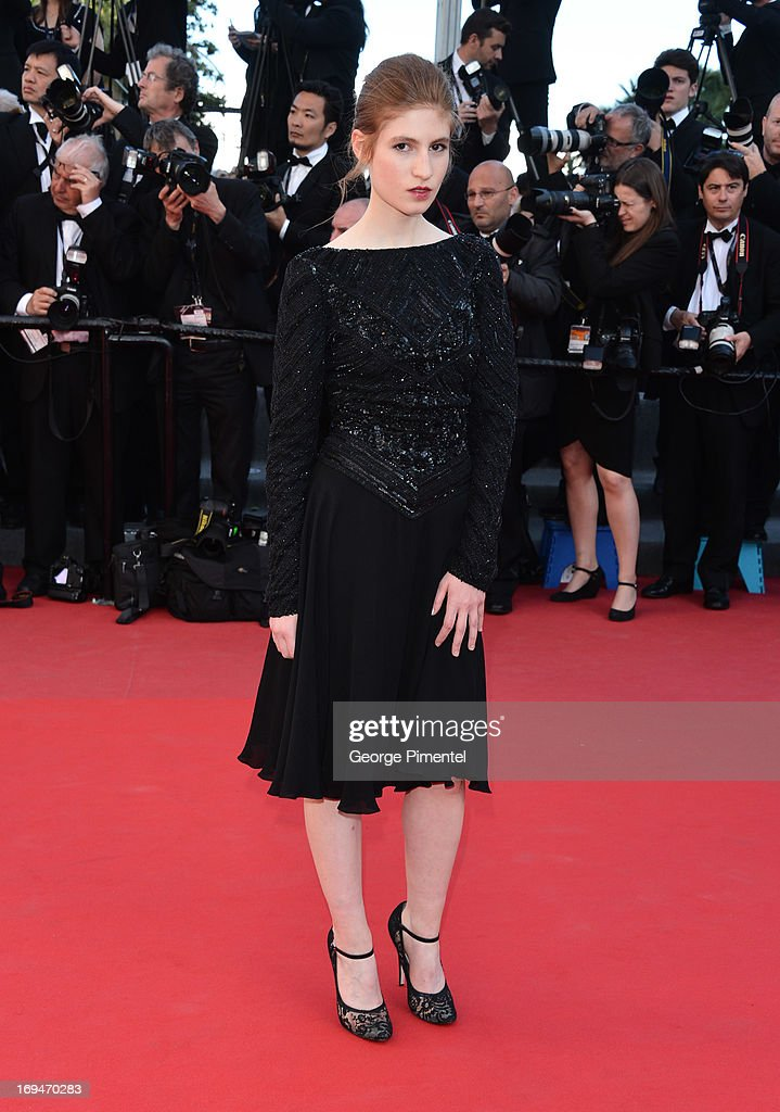 Agathe Bonitzer attends the Premiere of 'La Venus A La Fourrure' at The 66th Annual Cannes Film Festival on May 25, 2013 in Cannes, France.