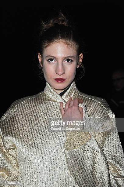 Agathe Bonitzer attends the Sonia Rykiel Fall/Winter 2013 ReadytoWear show as part of Paris Fashion Week at Halle Freyssinet on March 1 2013 in Paris...