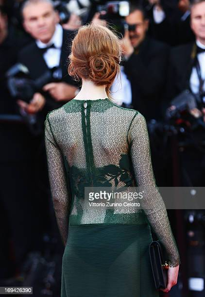 Agathe Bonitzer attends the 'The Immigrant' premiere during The 66th Annual Cannes Film Festival at the Palais des Festivals on May 24 2013 in Cannes...