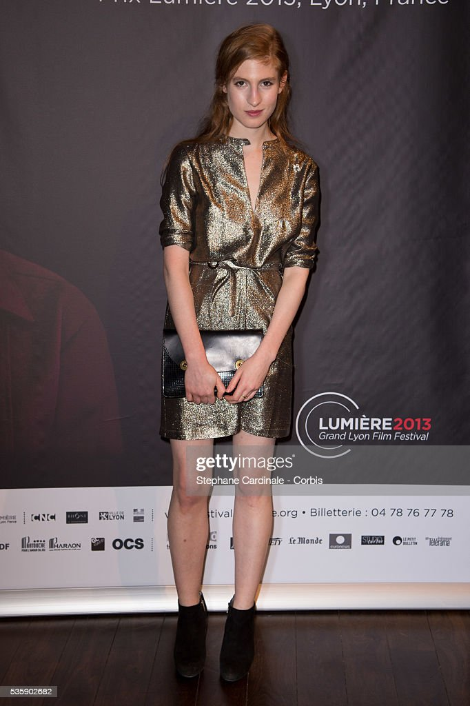 Agathe Bonitzer attends the Tribute to Quentin Tarantino, during the 5th Lumiere Film Festival, in Lyon.