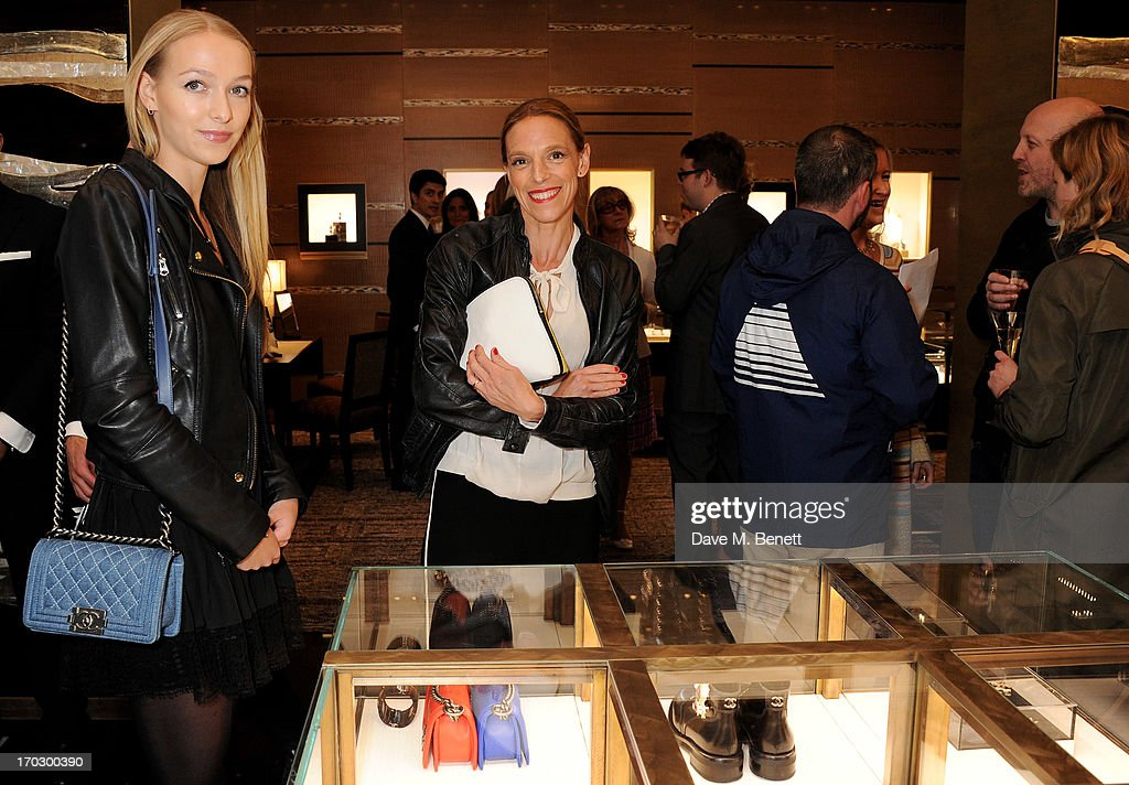 Agathe Chapman (L) and Tiphaine de Lussy attend a private view of the new CHANEL flagship boutique on New Bond Street on June 10, 2013 in London, England.