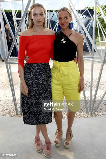 Agathe Chapman and Tiphaine de Lussy attend the COS celebration of The Serpentine Parks Nights 2017 at The Serpentine Pavilion on July 12 2017 in...