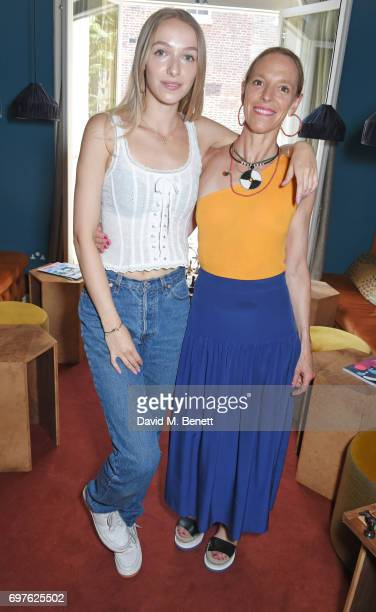Agathe Chapman and Tiphaine de Lussy attend the Isa Arfen x Alex Eagle lunch at The Chess Club on June 19 2017 in London England